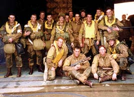 The cast of 'Band of Brothers' as seen by the television audience. It's all an illusion!